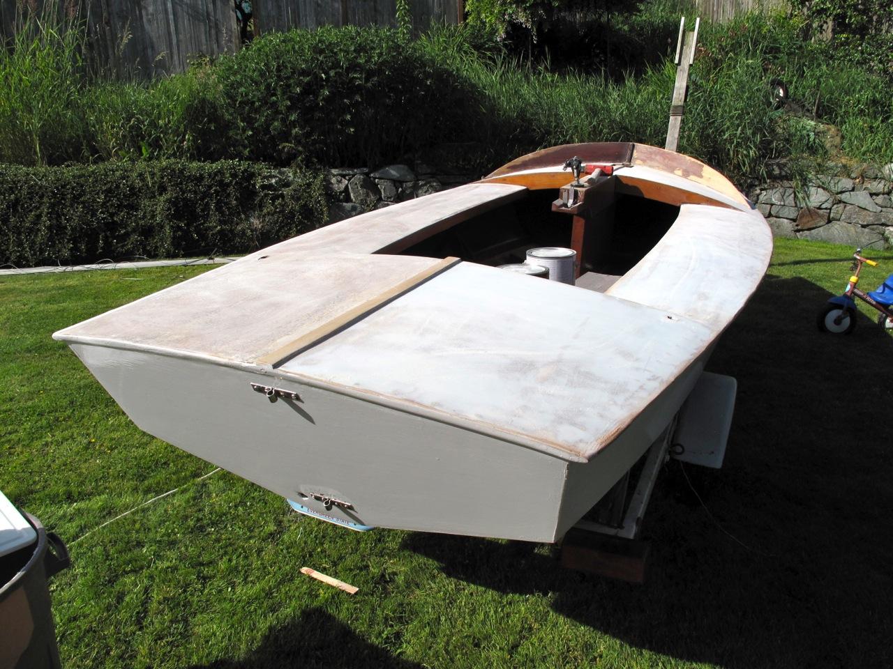 Restoring 1967 Snipe Sailboat Bellingham Wa Hoffmann